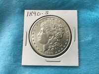 US 1890 S MORGAN SILVER DOLLAR.