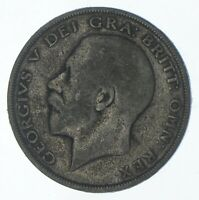 SILVER   WORLD COIN   1923 GREAT BRITAIN 1/2 CROWN   WORLD S