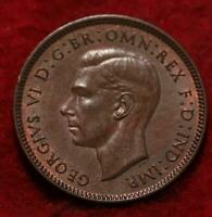 UNCIRCULATED 1939 GREAT BRITAIN FARTHING FOREIGN COIN