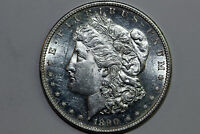 1890-S MORGAN 90 SILVER DOLLAR SEMI PL LARGE HIT OBV. MINT STATE MDX4350