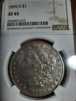 1895-S EXTRA FINE  45 NGC  DATE / BEAUTIFUL LOOK COIN $1 MORGAN SILVER DOLLAR