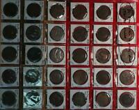 30  GREAT BRITAIN 1/2 PENNY DATED 1916 1925 CIRCULATED COINS