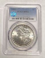 MORGAN DOLLAR 1884 P PCGS MINT STATE 64 SIGHT WHITE