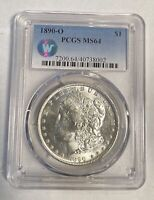 MORGAN DOLLAR 1890 O PCGS MINT STATE 64 SIGHT WHITE