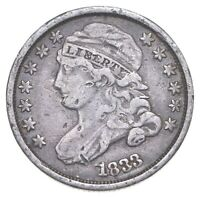 1833 CAPPED BUST DIME   CHARLES COIN COLLECTION  123