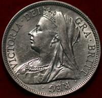 1899 GREAT BRITAIN HALF CROWN SILVER FOREIGN COIN