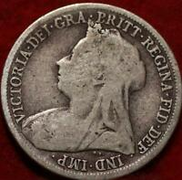 1898 GREAT BRITAIN SHILLING SILVER FOREIGN COIN