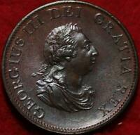 UNCIRCULATED 1799 GREAT BRITAIN 1/2 PENNY FOREIGN COIN