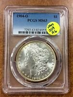 1904-O MORGAN DOLLAR PCGS MINT STATE 63 VAM-35A R6 STRONGLY CLASHED LIPS, NECK, UNDER IN