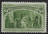 UNITED STATES STAMPS 1893 3$ COLUMBUS UNG VF