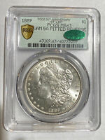 MORGAN SILVER DOLLAR 1889 P PCGS MINT STATE 63  CAC VAM 5A PITTED REVERSE