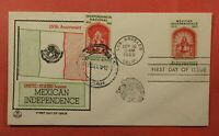 1960 JOINT ISSUE MEXICO FDC 1157 TRI COLOR CACHET