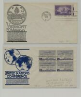 US   2 FDC'S LOT  93