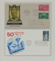 US   2 FDC'S LOT  107