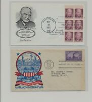 US   2 FDC'S LOT  115