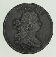 1800 DRAPED BUST HALF CENT - CIRCULATED 4704