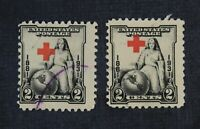 CKSTAMPS: US ERROR EFO FREAKY STAMPS USED 1 CREASE SHIFTED