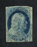 CKSTAMPS: US STAMPS COLLECTION SCOTT9 1C FRANKLIN USED TINY