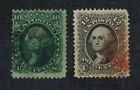 CKSTAMPS: US STAMPS COLLECTION SCOTT68 69 WASHINGTON USED 69
