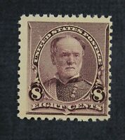 CKSTAMPS: US STAMPS COLLECTION SCOTT225 8C SHERMAN MINT NH O