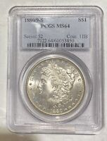 MORGAN SILVER DOLLAR 1880 S PCGS MINT STATE 64   OVERDATE