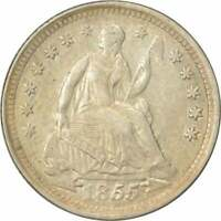 1855 LIBERTY SEATED SILVER HALF DIME ARROWS AU UNCERTIFIED