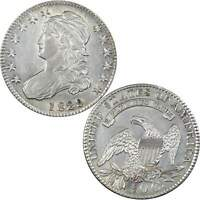 1829/7 CAPPED BUST HALF DOLLAR AU ABOUT UNCIRCULATED DETAILS 89.24 SILVER 50C