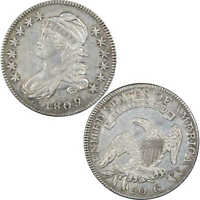 1809 NORMAL EDGE CAPPED BUST HALF DOLLAR EXTRA FINE  DETAILS 89.24 SILVER 50C US COIN