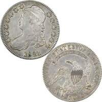 1821 CAPPED BUST HALF DOLLAR EXTRA FINE  EF  FINE 89.24 SILVER 50C US TYPE COIN