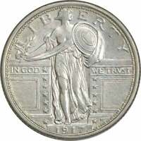 1917 STANDING LIBERTY SILVER QUARTER TYPE 1 AU SLIDER UNCERTIFIED