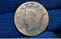 1822 LARGE CENT  G DETAILS  LOW MINTAGE YEAR BARGAIN PRICE W/ SHIPS FREE