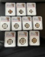 2018 US SILVER REVERSE PROOF SET 10 PC   NGC PF70 EARLY RELE