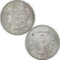 1904 MORGAN DOLLAR AU ABOUT UNCIRCULATED 90 SILVER $1 US COIN COLLECTIBLE