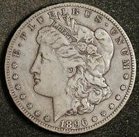1896-S MORGAN SILVER DOLLAR.   NATURAL UNCLEANED.  ABOUT EXTRA FINE .  162206