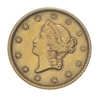 1853 $1 LIBERTY HEAD GOLD DOLLAR   CHARLES COIN COLLECTION