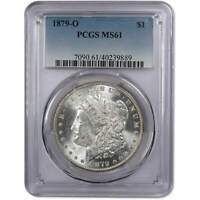 1879 O MORGAN DOLLAR MINT STATE 61 PCGS 90 SILVER $1 US COIN COLLECTIBLE