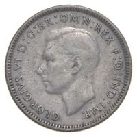 SILVER ROUGHLY SIZE OF QUARTER 1946 AUSTRALIA 1 SHILLING WOR