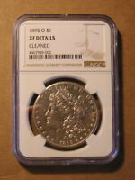 NGC 1895 O MORGAN SILVER DOLLAR COIN XF DETAILS CLEANED CERT
