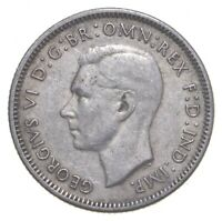 SILVER ROUGHLY SIZE OF QUARTER 1944 AUSTRALIA 1 SHILLING WOR