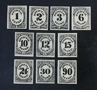 CKSTAMPS: US STAMPS COLLECTION SCOTTO47P4 O56P4 UNUSED H NG