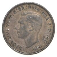SILVER ROUGHLY SIZE OF QUARTER 1942 AUSTRALIA 1 FLORIN WORLD