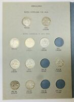 AUSTRALIAN SHILLING COINS   HAWTHORN PUSH IN ALBUM WITH 1910
