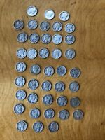 [LOT OF 41 MERCURY SILVER DIMES 1919 TO 1945