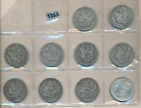 MORGAN DOLLAR -  COLLECTION - 10 DIFFERENT 1880 - 1889 - 5263