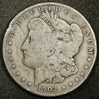 1902-S MORGAN SILVER DOLLAR.  NATURAL UNCLEANED.  VG.  164494