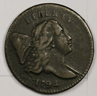 1794 HALF CENT.  LETTERED EDGE.   HIGH GRADE EXAMPLE.  164519