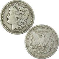 1892 S MORGAN DOLLAR F FINE DETAILS 90 SILVER $1 US COIN COLLECTIBLE