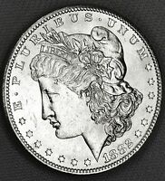 1882-S SILVER DOLLAR.    FULL CHEST FEATHERS.      BU INVENTORY A