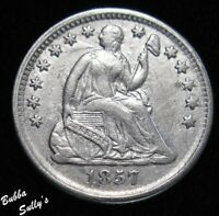 1857 SEATED LIBERTY HALF DIME <> XF DETAILS