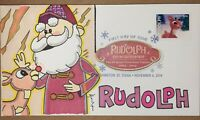 2014 RUDOLPH RED NOSED REINDEER FIRST DAY COVERHAND DRAWN CO